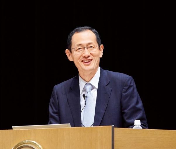 記念講演を行った、京都大学iPS細胞研究所 所長の山中伸弥教授