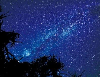 星空に一番近い島。88ある星座のうち84星座が見え、日本一美しいと言われる八重山の星空